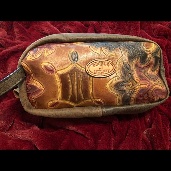 Double J Saddlery Leather Travel Bag